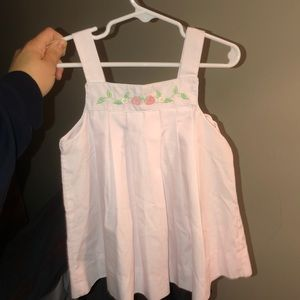 Petit ami EUC embroidered pink top/tunic 2t